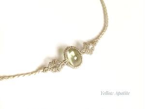 イエローアパタイト macrame necklace