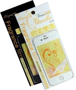 液晶保護フィルム バニラの香り ホワイト×ブラック2枚 (iphone4/4S)