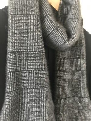 手織りメンズマフラー カシミヤ 0025  handweaving cashmere  scarf