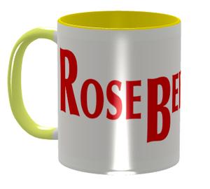 ロズベリーカフェ大ロゴマグカップ(黄)