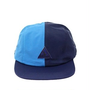 \SNACK SKATEBOARDS / SUPER SPORT 4 PANEL HAT / NAVY/AQUA