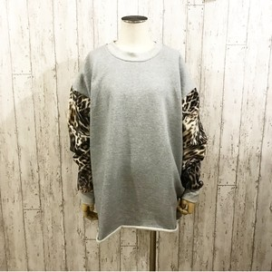 MIX LEOPARD SWEAT(GREY)