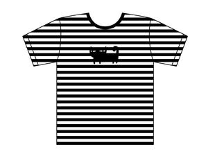 ネコボーダーTシャツ