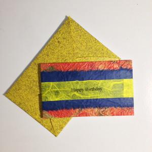 和紙の誕生日カード(Birthday008)