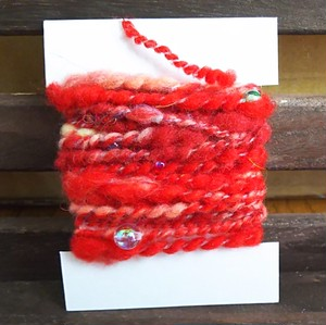 手紡ぎ糸 カードヤーン 4