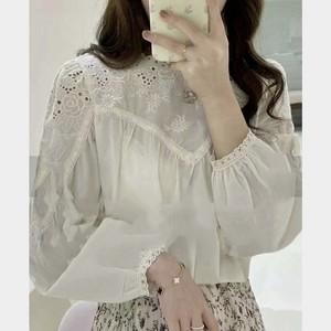 flower lace blouse[2103-25]