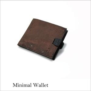 VEGAN MINIMAL WALLET  BROWN / 二つ折り財布 ブラウン&ブラック コルク製