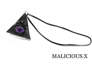 cat eye triangle coin case / violet