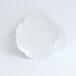 【5383-0000】-Oridge series- 強化磁器 11cm クローバープレート 白