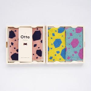 【今治タオル/ギフト】Otta(オッタ)ハーフタオルハンカチ同柄3枚組ギフトセット【Made in Japan】