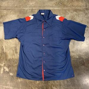 kinglouie ボウリングシャツ bowling shirt 半袖 紺色 ネイビー