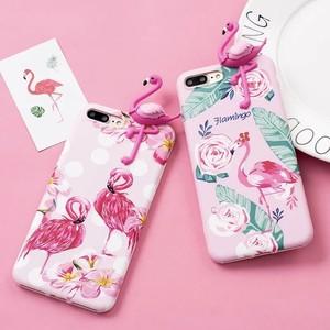 立体フラミンゴiPhoneケース ピンクフラミンゴ 全2種
