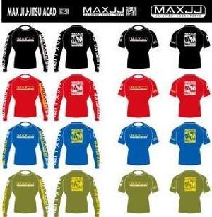 MAXJJ オリジナル ラッシュガード Original Rash Guard 半袖 Short Sleeve bjj ブラジリアン柔術 mma 総合格闘技 男女兼用