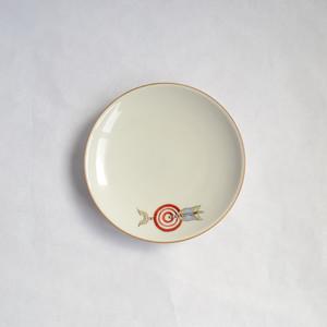 レトロな絵付の銘々皿 5枚セット