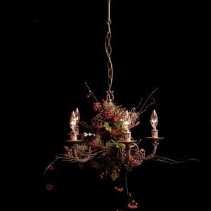 RED chandelier lamp france vintage