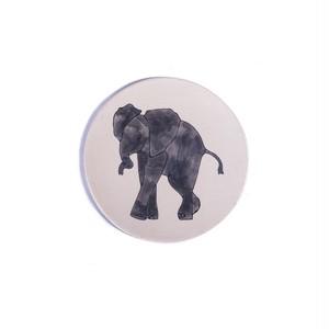 Elephant Face ゾウ 正円プレート スモール