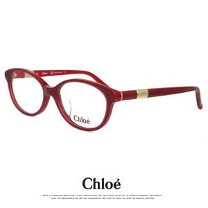 クロエ メガネ レディース ce2678a-613 chloe 眼鏡 レディース 赤渕 赤ぶち めがね オーバル フレーム アジアンフィット モデル