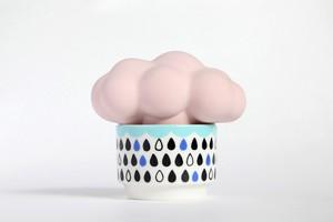 雲の加湿器:ピンク雲×ブラック系カップ・・・スウセラ(sucera)