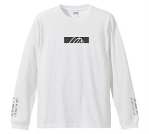 ロゴデザイン ロングスリーブTシャツ【white】