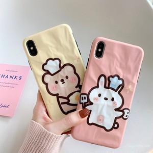 【 ファッション小物】キュートクマうさぎiphoneX/XS/XR/XsMaxiphone7/8/7p/8plus6/6sスマホケース