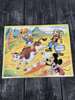 Vintage Disney INLAID PUZZLE ③''Donald Duck&Mickey'' Jaymar/ドナルドダック ミッキーマウス パズル 60's ビンテージ