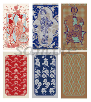 collection cards KIMONO GIRLS(3枚セット)