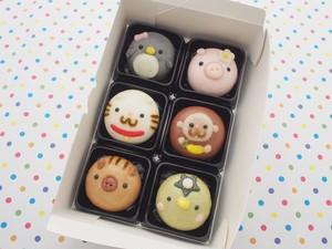お菓子どうぶつ園まんじゅう選べる箱詰め6個入