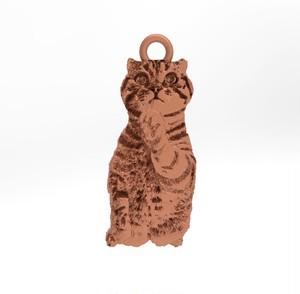 ティノ HOKUSHIN トップのみ シルバー925 ピンクゴールド 猫