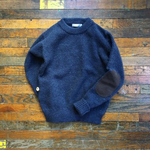 Le torico de la mer  /  Crew neck Sweater With Pocket & Elbow patch