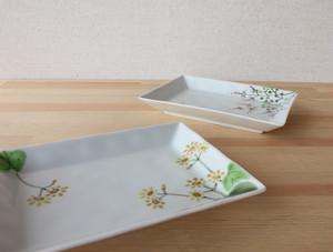秋の野花 長角皿とだえん鉢 (各)