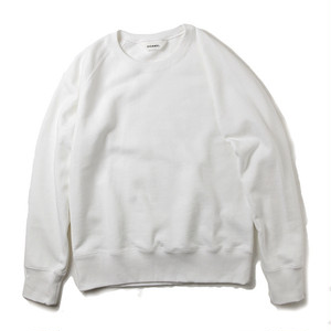 DIGAWELWHITE RAGLAN HEAVY SWEAT