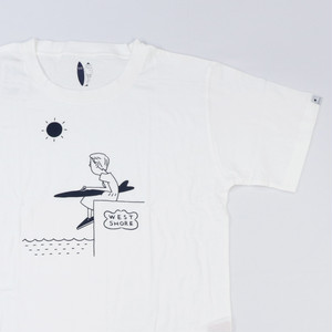 [ WEST SHORE ] Printed Tee ( girl ) - white