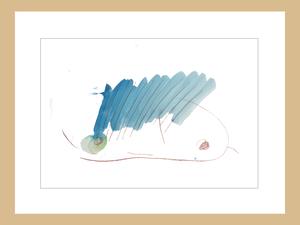 プリント額絵:しゅんすけ作「青のしゅんぼう」
