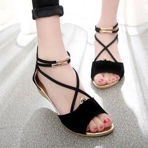 【shoes】新作切り替え金属飾りサンダル21008752