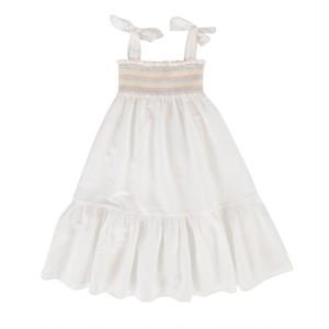 Peggy / Sierra Dress White Cotton Linen 8Y