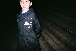 BOY  LOGO MILITARY COAT(BLACK)