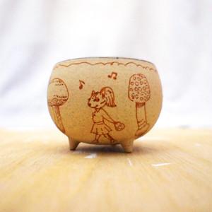 手描きうつわ「おさんぽ」 cup-06