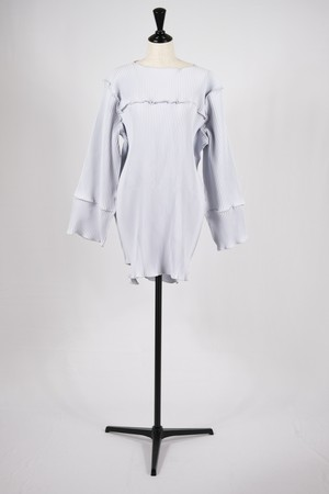 【kotohayokozawa】pleats mini dress-lt blue