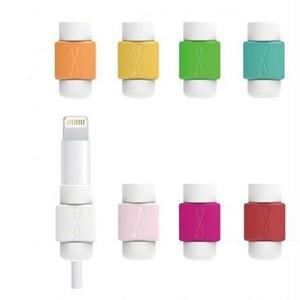 予約  iPhoneケーブルカバー 断線防止 シンプルタイプ 10個セット コネクタ保護キャップ ケーブルホルダー 10点セット ライトニングケーブル h1035