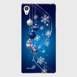 【Xperiaシリーズ】Winter Holiday Royal Blue ウィンター・ホリデー ロイヤルブルー ツヤありハード型スマホケース