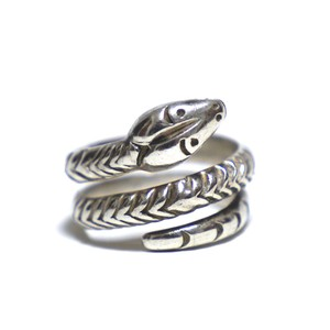 Vintage Sterling Silver Mexican Snake Ring