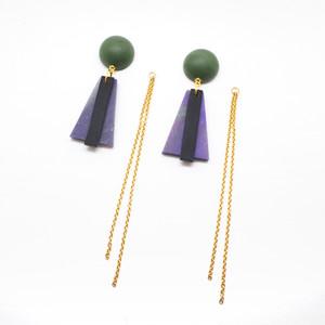 Trapezoid chain pierce_Charlotte[green]