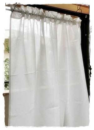 綿ローン*ロッドポケットカーテン【ミドルサイズ】W100×H80