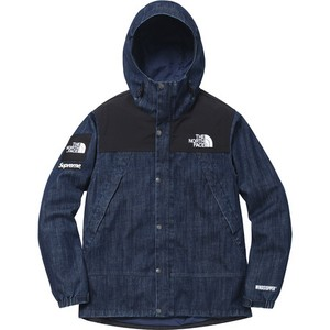 Supreme/The North Face Denim Dot Shot Jacket Gore Windstopper 3-layer denim
