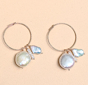 Pearl earrings | MIHO meets RUKUS