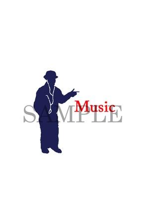 スマートフォン待ち受け画面オリジナルロゴ Music2