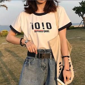 【トップス】超お買い得!配色ファッションTシャツ