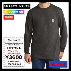Carhartt  Workwear Pocket Long Sleeve T-Shirt (品番CTK126)