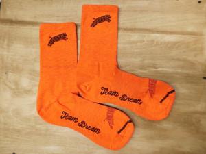 TEAM DREAM BICYCLING TEAM / NEW Heather Supreme Socks (Orange)