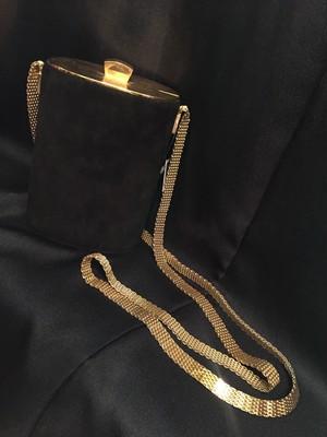 Vintage ITALY black × gold mini bag ( ヴィンテージ  ブラック × ゴールド ミニバッグ )